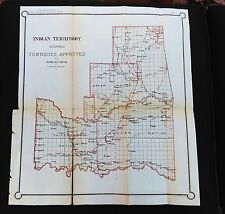 1902 Reservation Territory 5 Civilized Tribes Oklahoma Townsites Approved Map