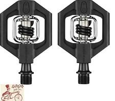 """CRANK BROTHERS CANDY 1 BLACK CLIPLESS 9/16"""" 3-PIECE CRANK BICYCLE PEDALS"""