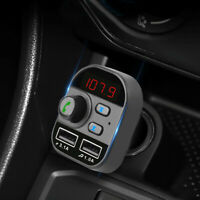 Bluetooth In-Car Wireless FM Transmitter MP3 Radio Adapter 2 USB Car Charger