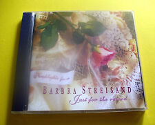 "CD "" BARBRA STREISAND - HIGHLIGHTS FROM JUST FOR THE RECORD "" 25 SONGS"