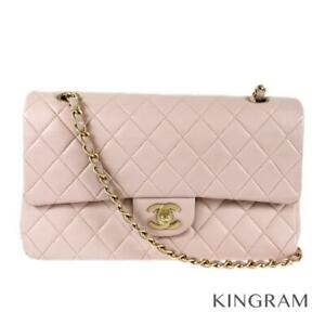 CHANEL Matrasse W Flap WChainCross Body pink lambskin Cross Body from Japan