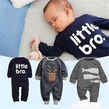 AU Newborn Baby Girl Boy Clothes Infant Bodysuit Romper Jumpsuit Playsuit Outfit