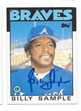 BILLY SAMPLE 1986 TOPPS TRADED AUTOGRAPHED SIGNED # 98T BRAVES