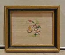 Hand Stitching Butterfly Picture with  Wood Gold Frame