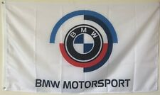 BMW MOTORSPORT FLAG BANNER 3X5FT WHITE