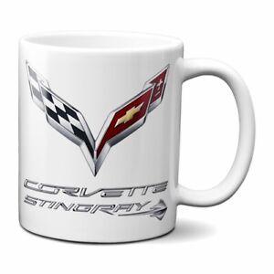 CORVETTE STINGRAY COFFEE MUG 11oz CERAMIC GM CHEVY STINGRAY