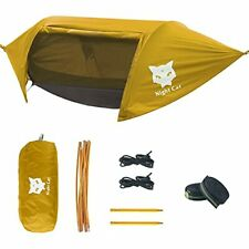 Camping Hammock Tent with Mosquito Net and Rain Fly for One Person