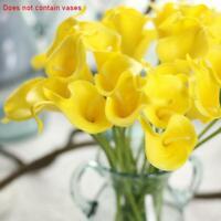 10X ARTIFICIAL FLOWER HEADS Calla Lily Faux Fake Silk Flowers Craft Wedding