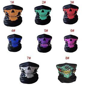 Halloween Face Mask Bandana Neck Snood Bike Cycling tube Snood Balaclava mask