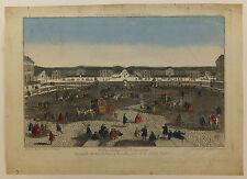 Grande avenue de Paris à Versailles vue d'optique XVIIIème siècle