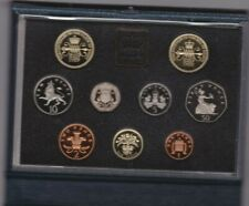 More details for royal mint 1989 standard proof set of 9 coins with certificate.