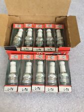 L-78 Champion Spark Plugs - Box of 10 - NEW Old Stock NOS - L78 Original Vintage
