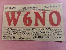 New listing Oakland, California- Lineood Avenue- Charles H. Cross- W6No- 1948- Qsl