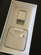 New Auth Apple iPhone EarPods, USB lightening Cable, Charging Block $65 value