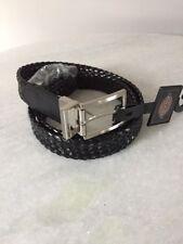 Dickies 12D10401 Reversible Black Brown Weave Belt Men's Size XL 34-36