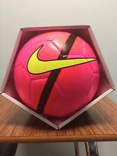 SOCCER BALL-NIKE-MERCURIAL-SIZE 4-REPLICA MATCH BALL-PINK IN COLOR-NEW-IN BOX-