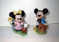 Antique WDP Disney Disney Land MICKEY & MINNIE MOUSE FIGURINE SET Collection