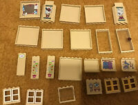 23 X LEGO Tan Wall Panels Doors Windows City  Creator/ Friends Stickers Bundle