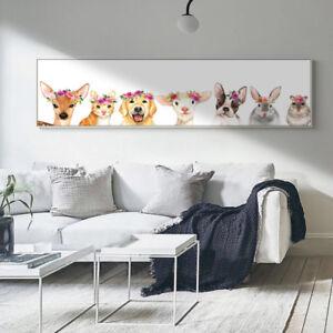 Modern Oversized Wall Art - Cute Animals Kids Room Decor Digital Print-Unframed