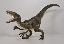 "2015 Blue Alpha Electronic Velociraptor 7"" Action Figure Jurassic World Park 4"