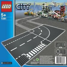 LEGO City - Base Plates - T-junction and Curve Road - 25cm Square - 7281