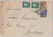 53558 - RSI - Storia Postale: MARCA DA BOLLO affrancatura mista su BUSTA