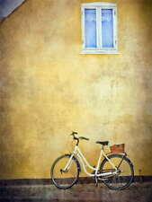 115362 BIKE CYCLE BICYCLE VINTAGE OLD BUILDING Decor LAMINATED POSTER FR