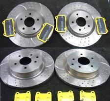 Per Nissan 350Z Disco Freno Forato Scanalato centro Yellow Stuff PASTIGLIE