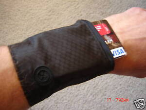 Wrist Band Wallet 2 Pack with zippered pocket to hold cash keys bank cards