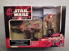 1999 STAR WARS EPISODE 1 GUNGAN ASSAULT CANNON W/ JAR JAR BINKS NEVER OPENED