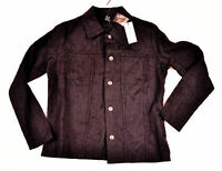 women's Kaktus light weight jacket size small embossed deep black cotton mix