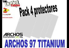 "**Pack 4 Protectores de pantalla para TABLET ARCHOS 97 9,7"" Universal ARNOVA"