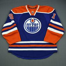 2012-13 Magnus Paajarvi Edmonton Oilers Game Used Worn Reebok Hockey Jersey NHL