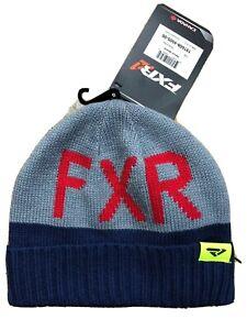 FXR Youth Beanie Hat Gray/Blue