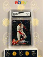2018 Topps Chrome Mookie Betts #183 - 10 GEM MINT GMA Graded Baseball Card