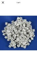 Dice d6 Square Corner 5mm White (200)