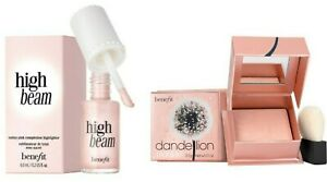 Benefit FULL SIZE Dandelion TWINKLE Powder Highlighter + HIGH BEAM RRP £42