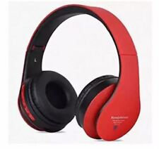 Soundcheck STN-12 108dB High Quality Wireless Over ear Stereo Headphones RED
