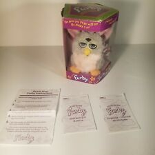 1998 Furby Tiger Electronics Leopard & Pink, Blue Eyes W/ Instructions: Working
