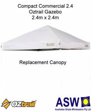 2.4m x 2.4m WHITE Gazebo Replacement Canopy suits OZTRAIL COMMERCIAL COMPACT