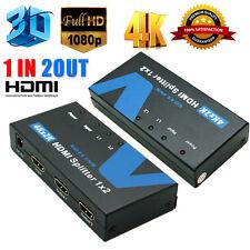 Voxlink 1080P HD 1x2 HDMI Splitter Out 4K*2K 3D 1 In 2 HDMI Switcher Converter