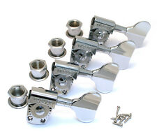 Grover Titan Electric Bass Tuner/Machine Heads, Set of 4 In Line, Chrome, 145C4