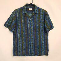 Vtg 50s 60s Andrade Resort Shops Loop Collar Hawaiian Shirt Aloha Print Sz S M