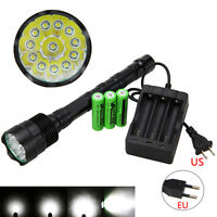 High Power 35000Lm 12x XM-L T6 LED Torch Flashlight 5 Modes Lamp Camping Light