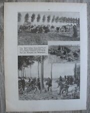 Blatt 1914-22 Belgien Armee Artillerie Kampf um Antwerpen Velo Fahrrad WWI 1.WK