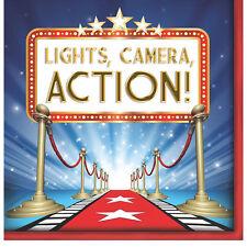 Hollywood Party Tema Luci fotocamera Azione carta Premi Notte Tovaglioli Decorazione
