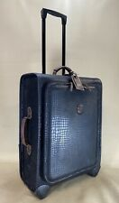 "Bric's Safari 24"" Trolley w/ Suiter Black Suitcase w/ Leather Trim Made in Italy"