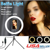 LED Ring Light With Stand Fit iPhone Selfie Makeup Photography Video Live Stream