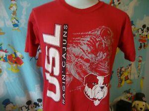 Vintage 90's University Of Louisiana Lafayette USL Ragin Cajuns T Shirt M