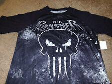 Punisher Mens Marvel Comics Super Hero Skull Black T-Shirt Size Large L